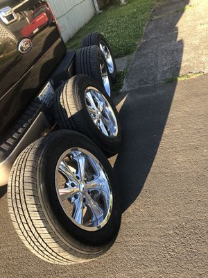 Rims and Michelin tires 95% tread P265/60R18. 6x5.5 bolt pattern Nissan Toyota or some other trucks for Sale in Fairview, OR