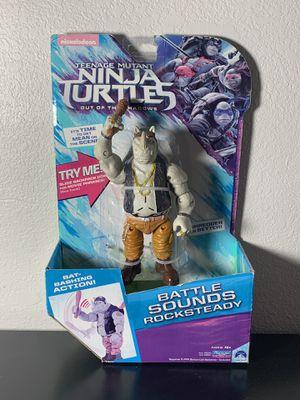 "Teenage Mutant Ninja Turtles / Rocksteady 6"" action figure with battle sounds for Sale in Salt Lake City, UT"