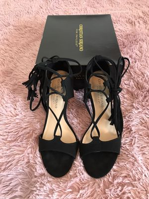 Black tie-up heels for Sale in Cape Coral, FL
