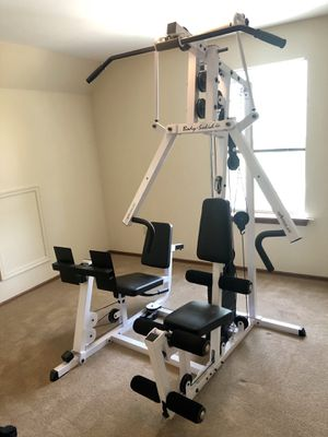Body solid home gym with leg press and weight stack for Sale in Saint Charles, MO
