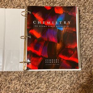 Chemistry An Atoms First Approach Zumdahl Zumdahl Second Edition for Sale in College Station, TX