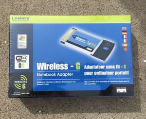 LINKSYS WIRELESS-G NOTEBOOK ADAPTER WPC54G • NEW/ FACTORY SEALED! for Sale in Orange, CA