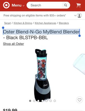 nearly new—Oster Blend-N-Go MyBlend Blender for Sale in Pittsburgh, PA