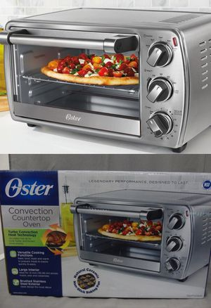 Oster 6 slices convection countertop toaster oven brush stainless steel for Sale in Pico Rivera, CA