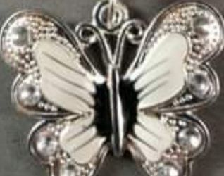 Black Suede Butterfly Charm Neclace for Sale in Nashua,  NH