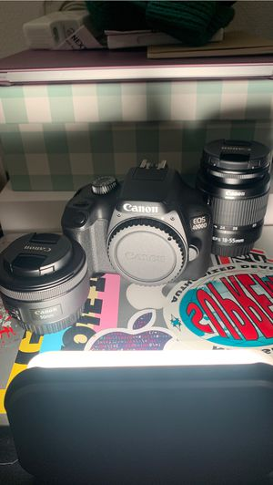 Canon 4000D + 2 Lenses + Accessories for Sale in Seattle, WA