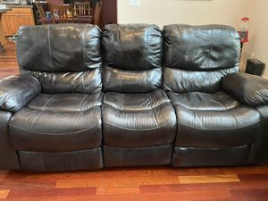 Like New (2)Top Grain Black Cherry Leather sofas for Sale in Vancouver, WA