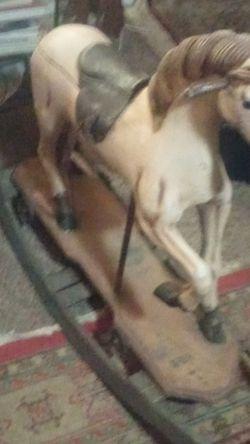 Antique usolid Wood Rocking Horse for Sale in Salt Lake City,  UT