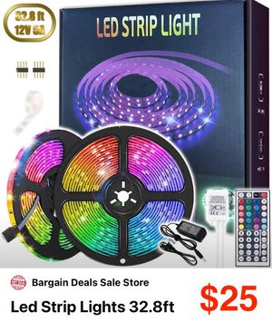 Led strip lights 16.4ft x 2 (32.8ft) brand new!! for Sale in St. Petersburg, FL