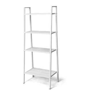 Cost way 4 tier metal ladder shelf storage rack bookshelf metal mesh layers display stand for Sale in Fontana, CA