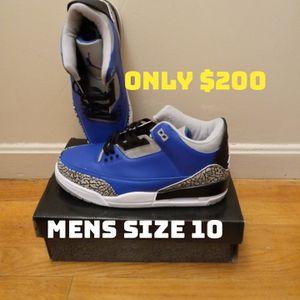 "Jordan 3 ""Blue Cement"" Mens Size 10 for Sale in Alexandria, VA"