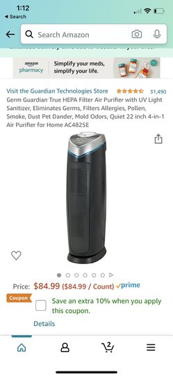 Filter Air Purifier with UV Light Sanitizer for Sale in Queens,  NY