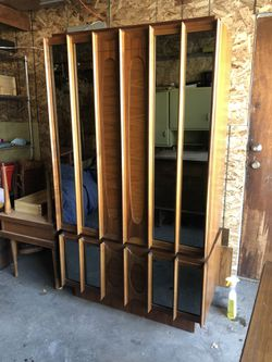 Mid Century Mirrored Armoire Wardrobe for Sale in Evergreen,  CO