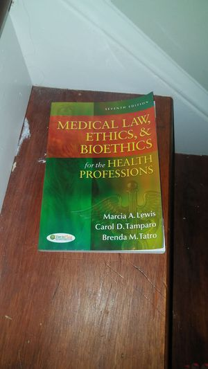 Medical law, ethics and bioethics book for Sale in Apex, NC