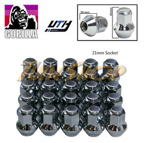 25 GORILLA LARGE SEAT OEM LUG NUTS 14X1.5 M14 ACORN RIMS CHROME for Sale in El Monte, CA
