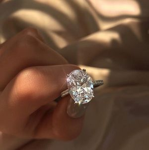 NEW Luxury Sterling Silver White Sapphire Diamond Ring for Anniversary Proposal Wedding Ring for Sale in Las Vegas, NV
