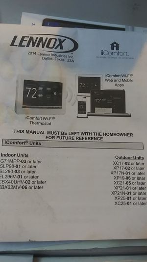 Lennox thermostat for Sale in Richardson, TX