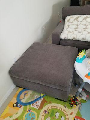 Radley fabric ottoman with storage for Sale in Miami, FL