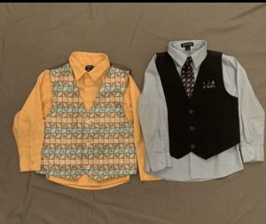 Little Boys Size 5/6T Shirt and Vest Sets for Sale in Dover, DE