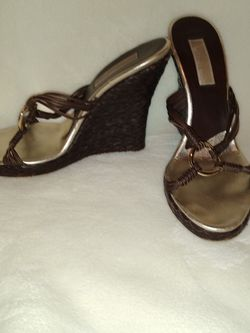 Michael Kors Brown Leather Wedges for Sale in Hollywood,  FL