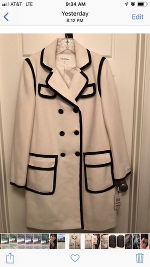 NWT Calvin Klein wool jacket ivory color Size 14 for Sale in Grass Valley, CA