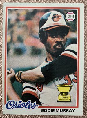 1978 Eddie Murray Rookie Topps Baseball Card # 36 Baltimore Orioles for Sale in Brea, CA