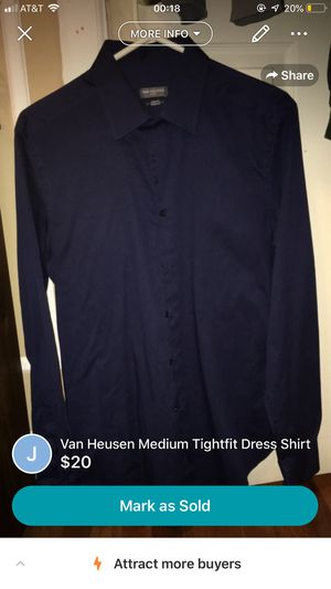 Van Heusen Medium Tightfit Dress Shirt for Sale in Philadelphia, PA