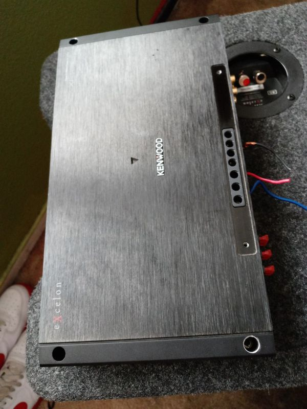Kenwood subwoofer'12 & Kenwood amplifier XR1000-1 class D mono amp with amplifier set up kit