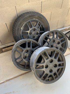 Rims 15 inch Matte Black OZ Rally. $150. OBO for Sale in Henderson, NV