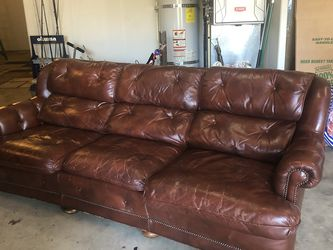 Leather sofa, chair + ottoman for Sale in Beavercreek,  OR