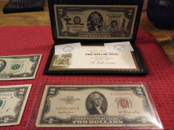 Two dollar bill lot