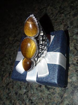 Tigers eye ring in stainless steel for Sale in Trenton, NJ