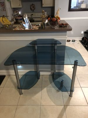 Glass and metal desk great for office for Sale in Cooper City, FL