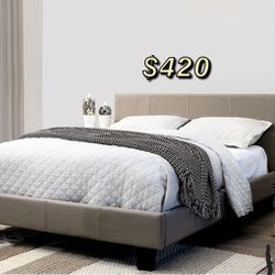 EASTERN KING BED FRAME AND MATTRESS INCLUDED for Sale in Downey,  CA