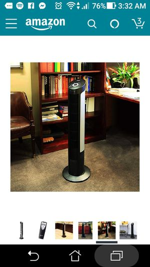 Seville Classics UltraSlimline 40 in. Oscillating Tower Fan with Steel Intake Grill, Gray for Sale in Lake Forest, CA