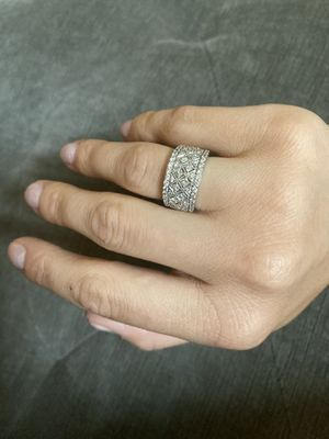 14k White Gold and diamond band engagement ring for Sale in Mount Vernon, WA