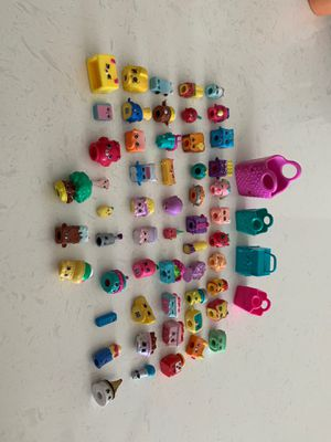 Shopkins - Seasons 1-6 , total of 53 with some shopkin tote bags for Sale in Rancho Santa Margarita, CA