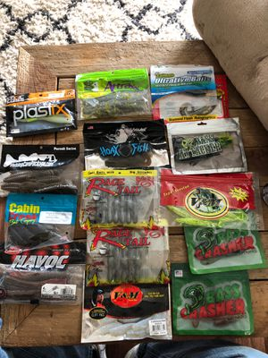 Big Lot Soft Plastics Fishing Lures for Sale in Martinsville, IN