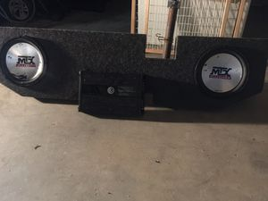 MTX Speakers / Box and a Class D' Memphis Audio for Sale in Biloxi, MS