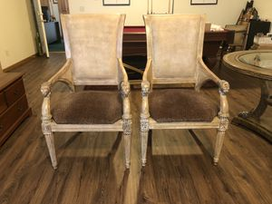 Pair of Thomasville accent chairs for Sale in Menomonie, WI