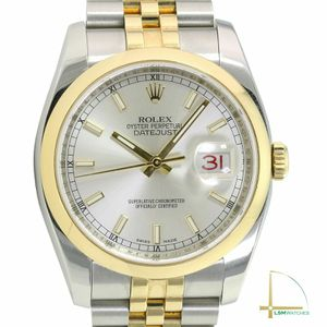 ROLEX Datejust 36mm116203 Gold & Steel Silver Dial Smooth Bezel Jubilee Watch for Sale in Los Angeles, CA