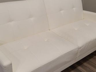 White Loveseat Couch Futon For Sale for Sale in Dunwoody,  GA