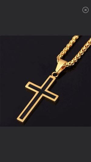 New 18k gold cross necklaces for men women for Sale in Cumming, GA
