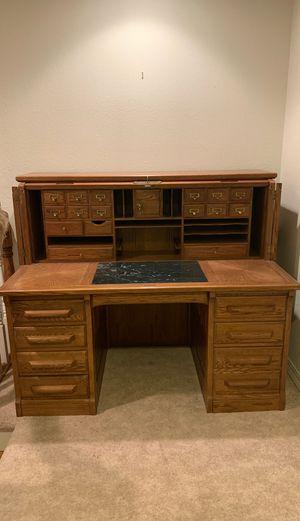 Antique oak roll top desk for Sale in Darrington, WA