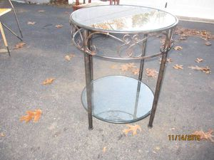 2 Tier Glass top Iron table for Sale in Portage, MI