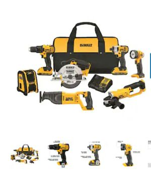 DEWALT 7-Tool 20-Volt Max Power Tool Combo Kit with Soft Case (Charger Included and 2-Batteries Included for Sale in Camden, NJ