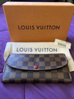 Authentic Louis Vuitton Emilie Wallet In Damier Ebene for Sale in San Martin, CA