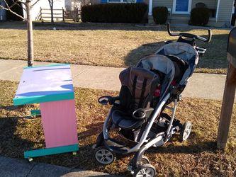 Free Double Stroller & Girls Desk On Wheels for Sale in Amelia,  OH