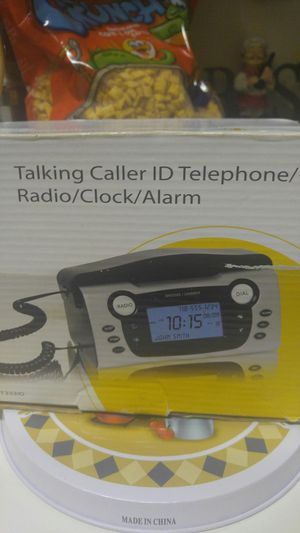 Talking caller ID telephone radio clock and alarm for Sale in Camden, NJ