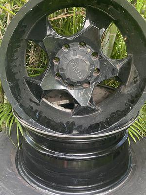 """20"""" Truck rims like new black for Sale in Hialeah, FL"""